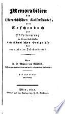 Memorabilien des österreichischen Kaiserstaates