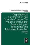 Organisational Transformation and Scientific Change
