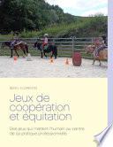 illustration Jeux de coopération et équitation