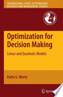 Optimization For Decision Making