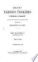 Dějiny národu českého w Čechách a w Morawě