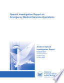 Special Investigation Report on Emergency Medical Services Operations