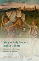 Lying in Early Modern English Culture