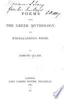 Poems from the Greek Mythology