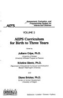 Assessment  Evaluation  and Programming System for Infants and Children  AEPS curriculum for birth to three years
