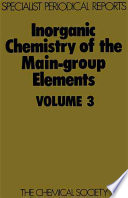Inorganic Chemistry of the Main Group Elements