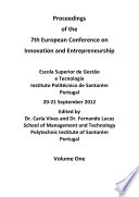 ECIE2012 7th European Conference on Innovation and Entrepreneurship