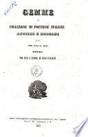 Gemme  o Collezione di poetesse italiane antiche e moderne dal 1290 al 1855 opera per cura e studio di Luigi Cancrini