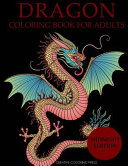 Dragon Coloring Book for Adults Midnight Edition