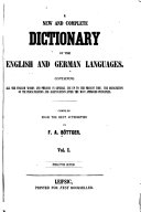 A New and Complete Dictionary of the English and German Languages