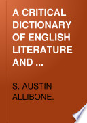 A Critical Dictionary of English Literature Book PDF