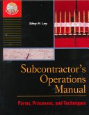 Subcontractor s Operations Manual
