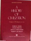 A History of Civilization  Prehistory to 1715