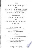 The adventures of king Richard Coeur de Lion
