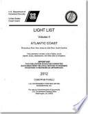 Light List  2012  V  2  Atlantic Coast  Shrewsbury River  New Jersey to Little River  South Carolina