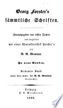 Bd. Johann Georg Forster. Briefwechsel