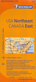 Michelin Map USA Northeast  Canada East