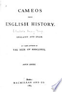 Cameos From English History England And Spain 1883 book