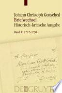 Johann Christoph Gottscheds Briefwechsel
