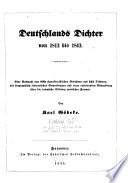 Deutschlands dichter von 1813 bis 1843