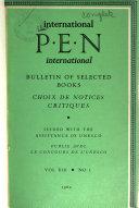 International P.E.N. Bulletin of Selected Books