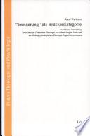 """""""Erinnerung"""" als Brückenkategorie"""