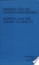 Meinong and the theory of objects