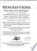 Descriptions des arts et m  tiers