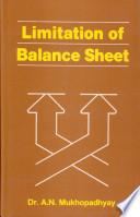 Limitation of Balance Sheet