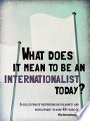 What does it mean to be an internationalist today