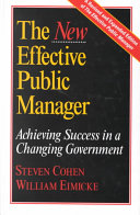 The new effective public manager