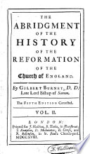 The Abridgement of the History of the Reformation of the Church of England