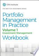 Portfolio Management in Practice  Volume 1 Book PDF