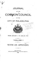 Journal Of The Common Council Of The City Of Philadelphia For The Year