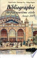 Bibliographie du dix-neuvième siècle