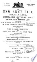 The New Army List Militia List Yeomanry Cavalry List And Indian Civil Service List