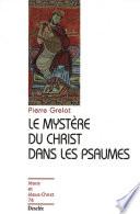 Le myst  re du Christ dans les Psaumes