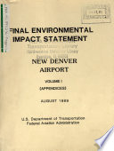 Denver Airport Construction And Operation Of A New Transport Category Airport book