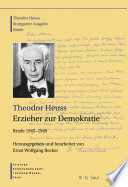 Theodor Heuss, Erzieher zur Demokratie