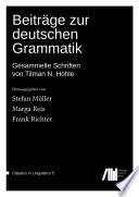 Beiträge zur deutschen Grammatik