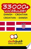 33000  Danish   Croatian Croatian   Danish Vocabulary