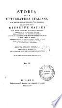 Storia della letteratura italiana dall'origine della lingua sino a' nostri giorni