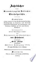 Jahrbücher des Großherzoglich Badischen Oberhofgerichts