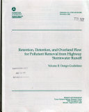 Ebook Retention, Detention, and Overland Flow for Pollutant Removal from Highway Stormwater Runoff: Design guidelines Epub N.A Apps Read Mobile