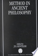 Method in Ancient Philosophy