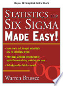 Statistics for Six Sigma Made Easy, Chapter 16 - Simplified Control Charts