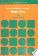 Notes On Peter Abrahams Mine Boy