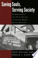 Saving Souls  Serving Society