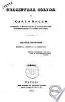 Matematiche pure ad uso degli studj generali di Carlo Rocco