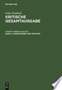 Rezensionen und Kritiken (1901-1914)
